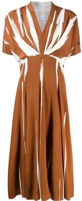 Paul Smith Draped Two-Tone Dress