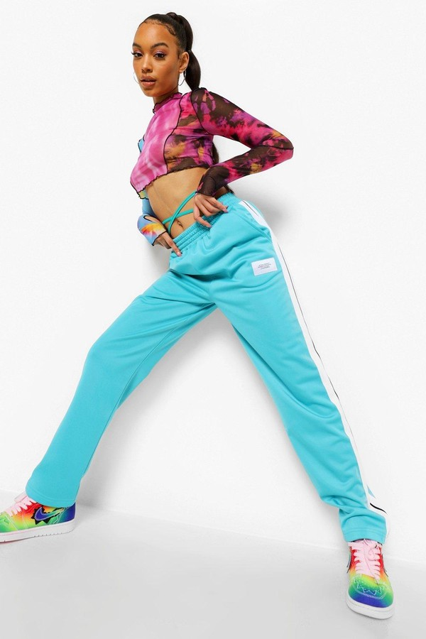 Thumbnail for your product : boohoo Tricot Jogger With Side Tape