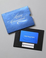 Only at Bloomingdale's Happy Chanukah Gift Card with Box