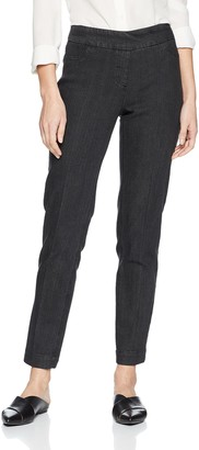 Slim Sation SLIM-SATION Women's Misses Wide Band Regular Length Pull-on Straight Leg Pant with Tummy Control