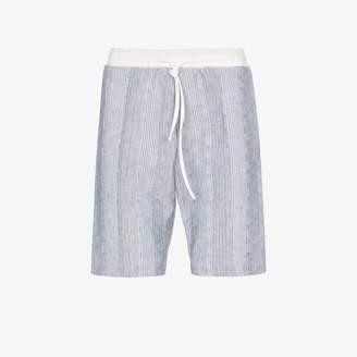 Prevu PREVU Powder Blue Eden Stripe Shorts
