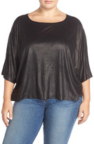 BB Dakota Frieda Faux Leather Dolman Sleeve Top (Plus Size)