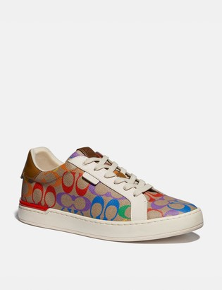Coach Lowline Low Top Sneaker In Rainbow Signature Canvas