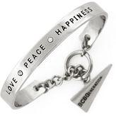 BCBGeneration Silvertone Love Peace Happiness Bracelet