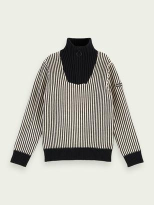 Scotch & Soda Half-zip turtleneck pullover | Boys