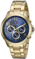 Tommy Hilfiger Women's 'DANI' Quartz Gold Plated Casual Watch (Model: 1781643)