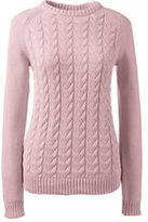 Lands' End Women's Tall Drifter Cable Sweater-Soft Tea Rose