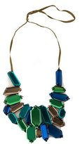Vera Wang Multicolor Glass Bib Necklace