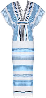 Lemlem Mizan stripe-pattern midi dress