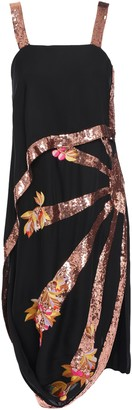 Temperley London Sycamore Asymmetric Embellished Draped Crepe Dress