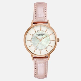 Kenneth Cole Pastel Pink Rose Gold Watch with Mother of Pearl Dial