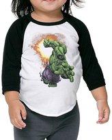 Gary Kid Raglan Gary Kids Round Collar Raglan Marvel Hulk Shirt 2 Toddler