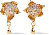 Eddie Borgo Gold-tone crystal earrings