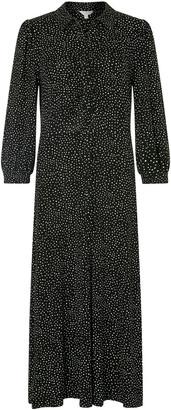 Monsoon Ditsy Print Shirt Dress with LENZING ECOVERO Black