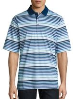 Bugatchi Striped Cotton Polo