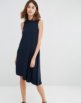 Warehouse Crepe Asymmetric Dress