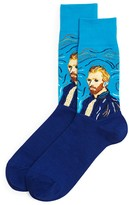 Hot Sox Van Gogh Self Portrait Print Socks