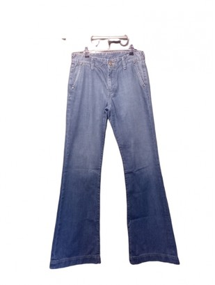 Acquaverde Blue Cotton Jeans for Women