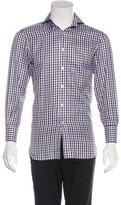 Tom Ford Gingham Herringbone Dress Shirt