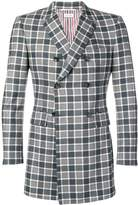 Thom Browne Box Check Flannel Suiting Sport Coat