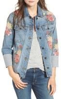 Joe's Jeans Women's Belize Embroidered Denim Jacket