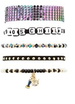 Charlotte Russe 90's Child Layering Bracelets - 5 Pack