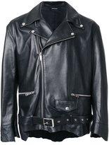 Christian Dada classic leather biker jacket