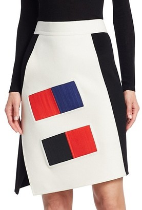 Akris Punto Colorama Cashmere A-Line Skirt