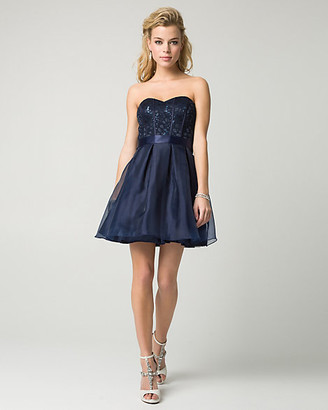 Le Château Sequin Lace Sweetheart Party Dress