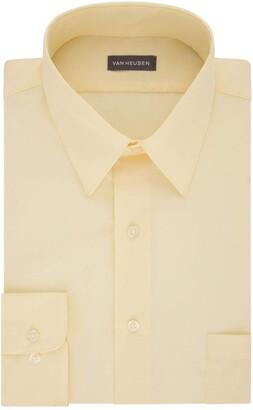 Van Heusen Men's FIT Dress Shirt Poplin Solid (Big and Tall)