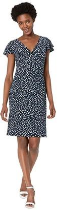 Lauren Ralph Lauren Pica Short Sleeve Day Dress (Lighthouse Navy/Blue/Multi) Women's Dress