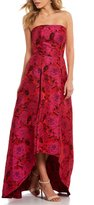 Laundry by Shelli Segal Floral Jacquard High Low Gown
