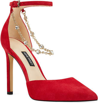 Nine West Talula Two-Piece Chained Pumps Women Shoes