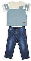 7 For All Mankind Boys' Color-Block Pocket Tee & Jeans Set - Baby