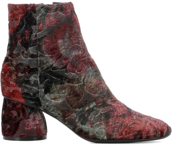 Strategia Multicolor Velvet Ankle Boots