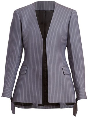 Collarless Pinstripe Blazer by Chloé, available on shopstyle.com for $2450 Gigi Hadid Outerwear SIMILAR PRODUCT
