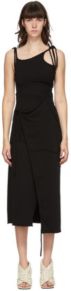 Ottolinger Black SSENSE Exclusive Terry Wrap Dress