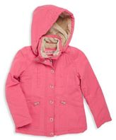 Urban Republic Girl's Solid Faux Fur-Trimmed Hooded Jacket