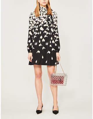 Valentino Floral-print silk mini dress