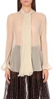 Alexander McQueen Neck scarf silk-chiffon shirt