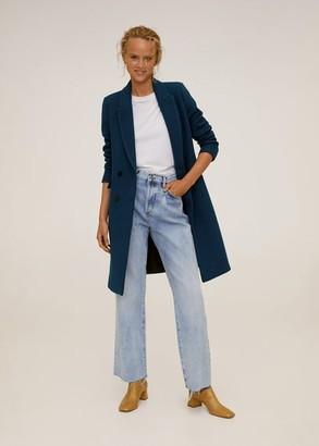 MANGO Double-breasted wool coat ecru - XS - Women