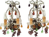 One Kings Lane Vintage Fruit-Motif Sconces, Pair