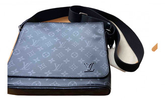 Louis Vuitton District Grey Cloth Bags