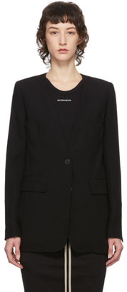 Ann Demeulemeester Black Wool Lightlaine Blazer