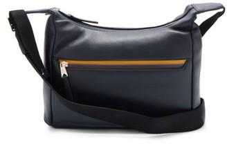 Paul Smith Logo-stripe Leather Cross-body Bag - Navy