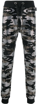 Philipp Plein Camouflage-Print Track Trousers