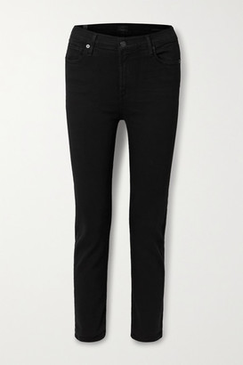 Citizens of Humanity Harlow Cropped Mid-rise Skinny Jeans - Black