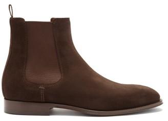 Brunello Cucinelli Suede Chelsea Boots - Dark Brown