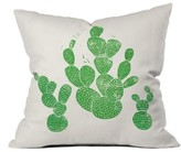DENY Designs Green Cacti Pillow