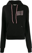 Sandy Liang panelled logo hoodie